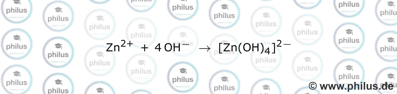 Alkalische Komplexierung von Zink-Ionen