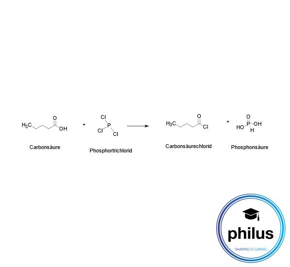 Carbonsäurechloriddarstellung aus einer Carbonsäure mit Phosphortrichlorid