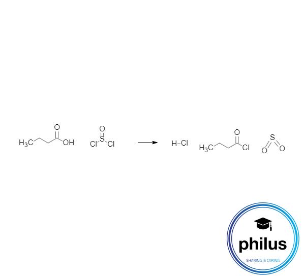 Carbonsäurechloriddarstellung aus einer Carbonsäure mit Thionylchlorid