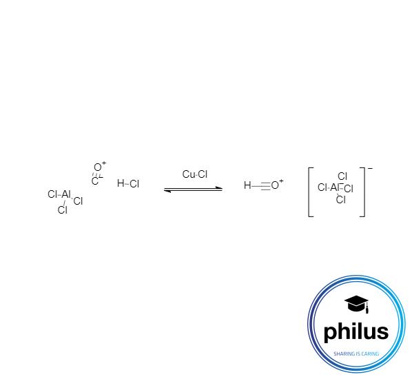 Elektrophilbildung Gattermann-Koch-Formylierung