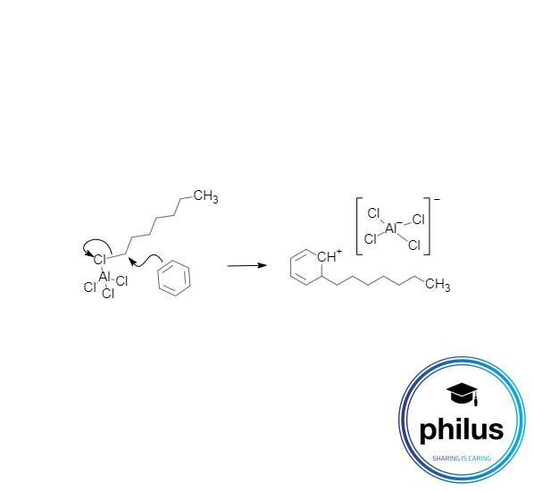 Elektrophiler Angriff eines aktivierten Halogenalkans (Friedel-Crafts-Alkyierung)