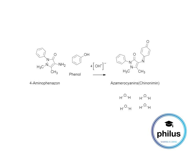 Emerson-Reaktion mit Phenolen mit freier para-Position