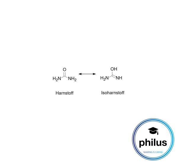 Gleichgewicht zwischenHarnstoff undIsoharnstoff