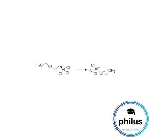 Aktivierung des Halogenalkans durch eine Lewis-Säure