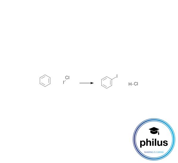 Elektrophile Iodierung von Brom mit Iodmonochlorid