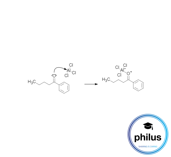 Komplexbildung einer Lewis-Säure mit einem Phenylalkanon