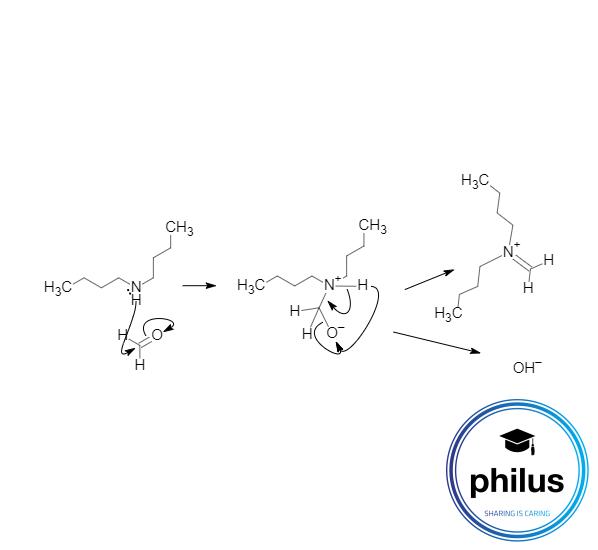 Mannich-Reaktion, Iminiumionbildung