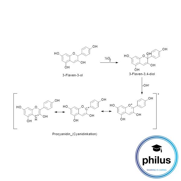 Reaktion von 3-Flaven-3-olen zu Cyanidinkationen