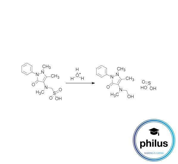 saure Hydrolyse von Metamizol (Ph. Eur.)