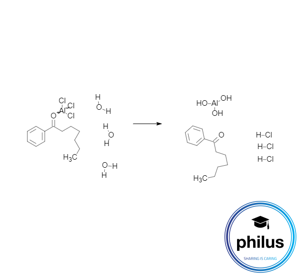 Wässrige Komplexzerstörung eines Phenylalkanon-Lewis-Säure-Komplexes</p>