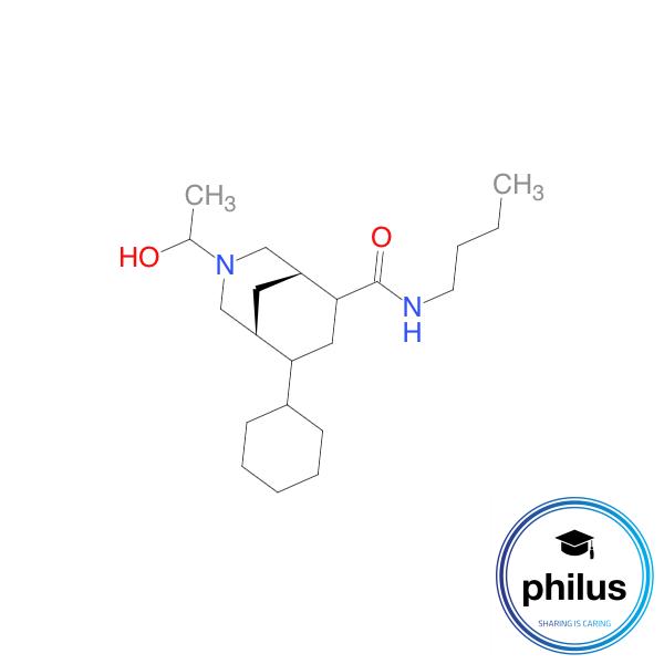 N-Butyl-8-cyclohexyl-3-(2-hydroxypropyl)-3-azabicyclo[3.3.1]nonan-6-carboxamid
