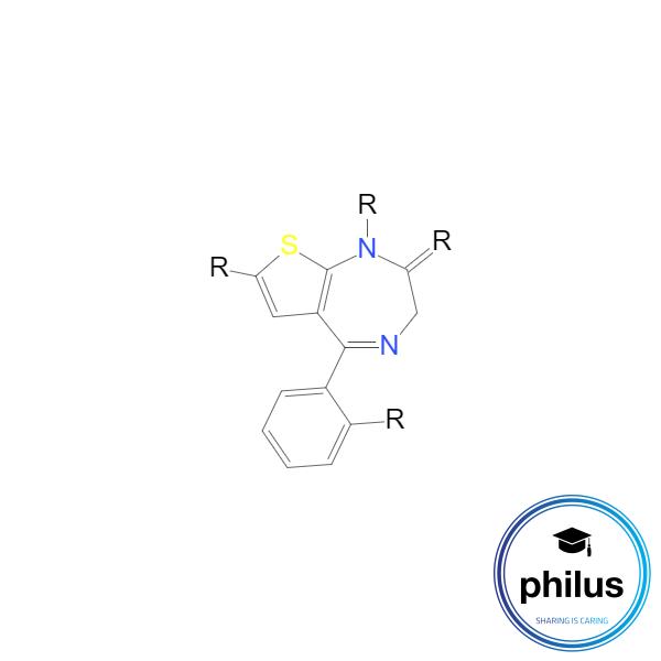 Thienodiazepin-Grundgerüst
